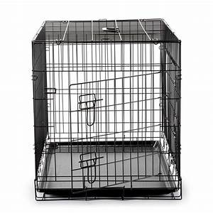 36quot dog cage crate folding kennel with divider pet puppy With 36 inch dog crate with divider