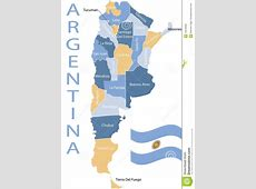Argentina map stock vector Image of atlantic, names