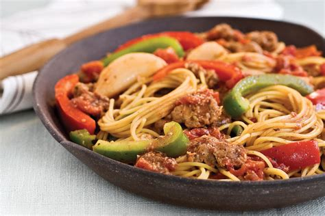 Spaghetti With Sausage And Peppers  Quick And Easy Main