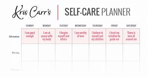 my crazy sexy self care planner With self care plan template