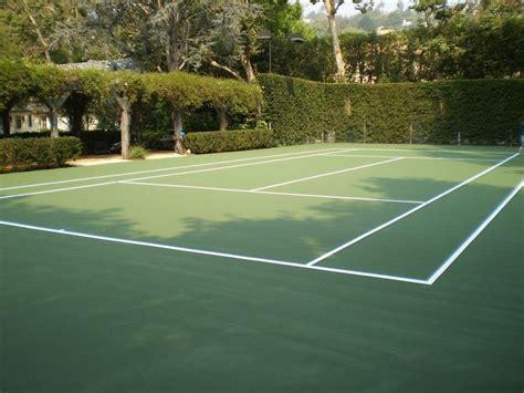 secret   backyard tennis court   fun     game  start  rally