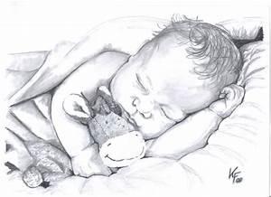 Kunst Zeichnungen Bleistift : la le lu niedlich schlafendes baby baby bleistiftzeichnung von sweetdecember bei kunstnet ~ Yasmunasinghe.com Haus und Dekorationen