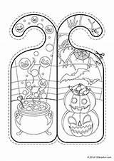 Halloween Door Hangers Fun 123kidsfun sketch template