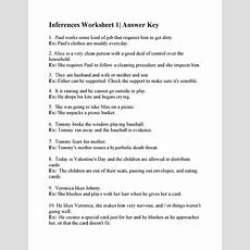 Inferences Worksheet 1 Answers