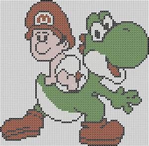 Bügelperlen Super Mario : super mario brothers inspired yoshi with baby von stitchedpixels super mario und freunde ~ Eleganceandgraceweddings.com Haus und Dekorationen
