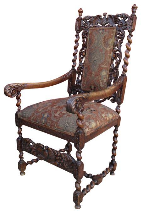 antique high  barley twist chair