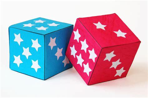 paper dice kids crafts fun craft ideas firstpalettecom