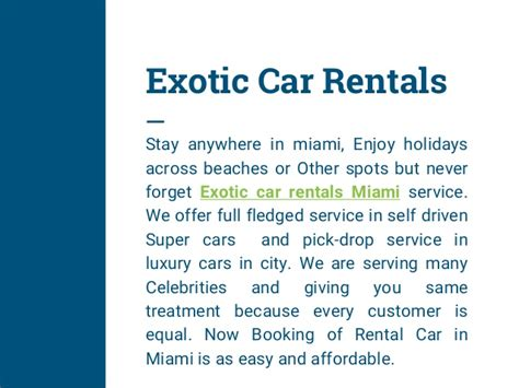 Of Miami Car Rental Drop by Find Best Cars At Miami For Rentals