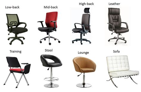 types of chairs and sofas office chairs singapore affordable quality safety chairs