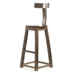 Wooden Bar Stools by Modern Industrial Rustic Solid Wood Bar Stool Kathy Kuo Home