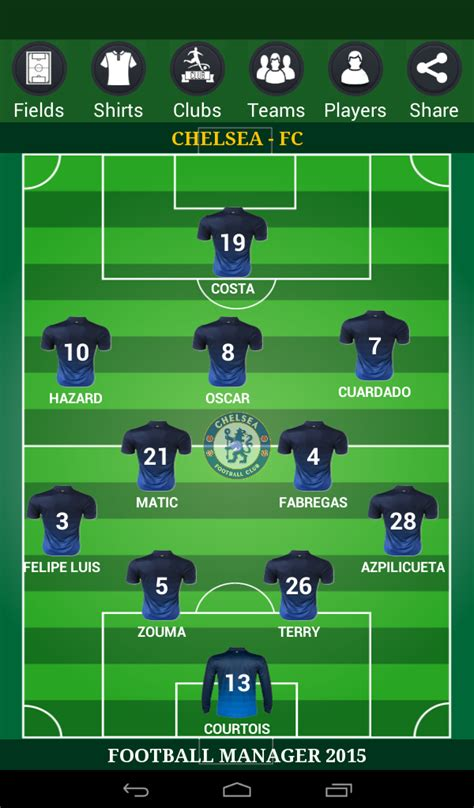 football lineup manager