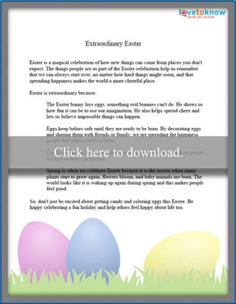 free easter speeches for children lovetoknow 360 | 210169 400x515 Extraordinary Easter thumbnail