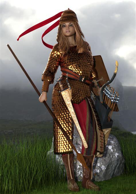 royal scythian warrior  rendering renderhub gallery