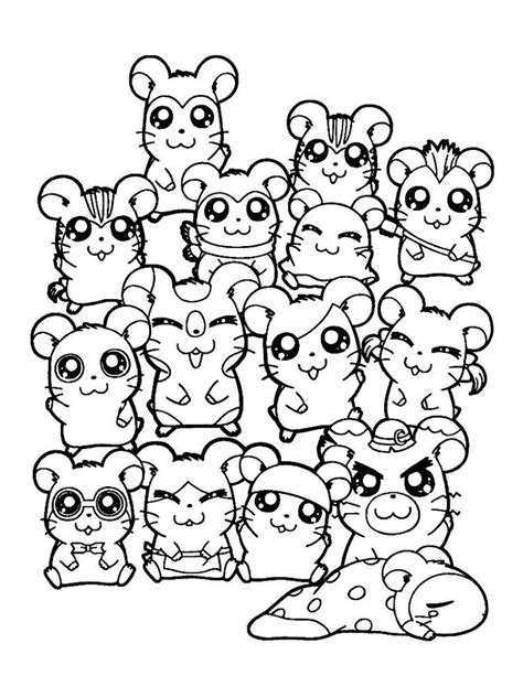 Fascinating hamster facts for kids. Hamster Coloring Pages To Print. Hamsters, small animals that for some people look like mice… in ...