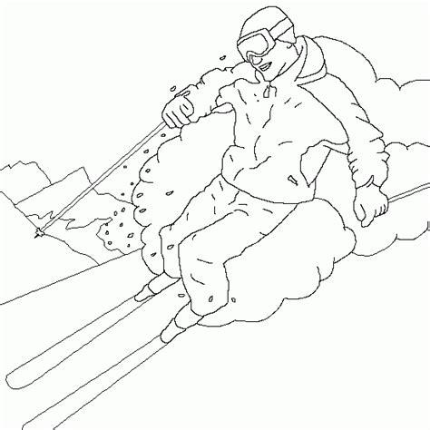 le ski coloriages d hiver 224 imprimer