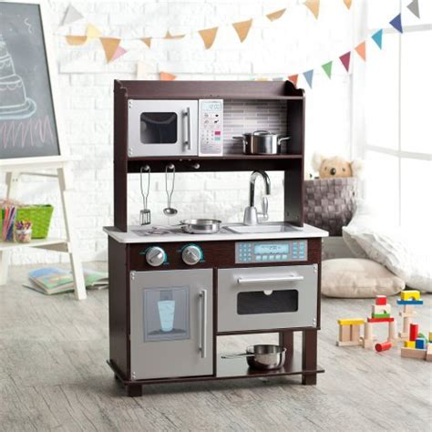 kitchen play set walmart kidkraft espresso toddler play kitchen with metal