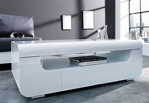 Table Basse Blanche Design : awesome table de salon blanc laque ideas awesome ~ Preciouscoupons.com Idées de Décoration