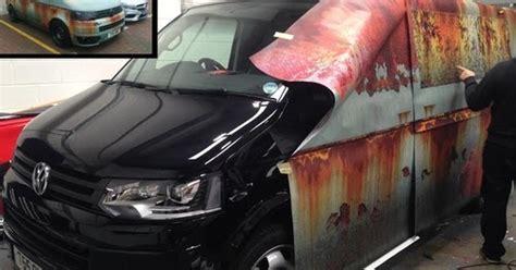 Car Vinyl Wrap With The Rust Treatment