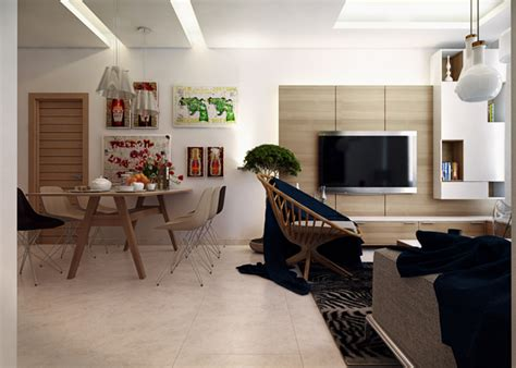 Modern Apartment For A Visualized by Small Modern Apartment 1 Interior Design Ideas