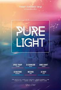 Pure Light Flyer | Event poster design, Minimalist and ...