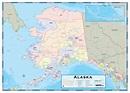 Alaska Counties Wall Map   Maps.com.com