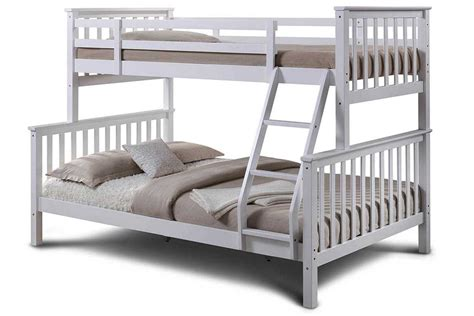 size bunk beds oscar white wooden sleeper bunk bed single 6418