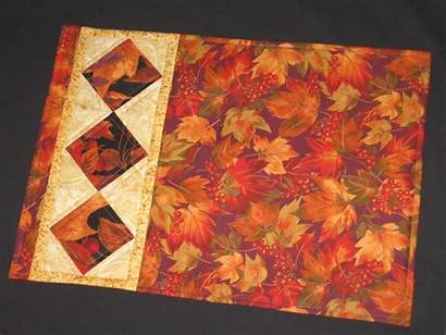Placemats Quilted Quilting Placemat Patterns Fall Pattern