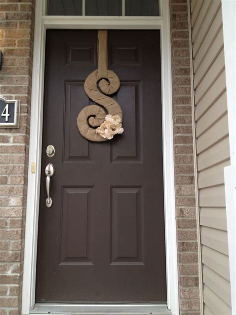 first time i ve created a letter for our front door love