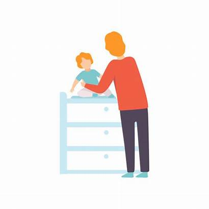 Changing Table Clip Vector Illustrations Dressing Similar