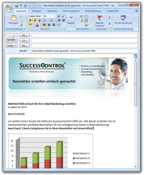 Newsletter Templates For Outlook by Outlook Newsletter Erstellen Mit Bildern Grafiken Und