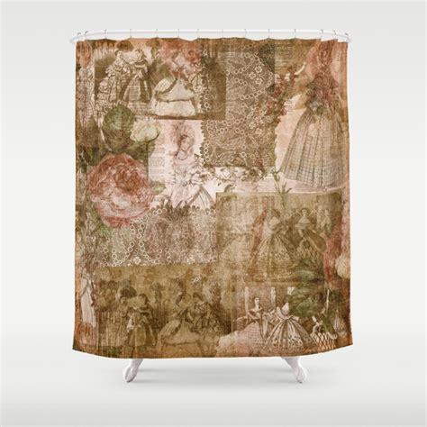 vintage shabby chic victorian ladies pattern shower