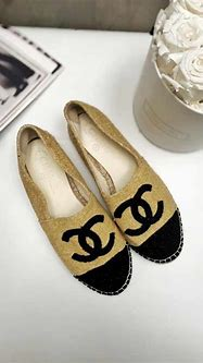 Chanel - CC Logo Sparkle Terry Cloth Espadrilles Gold ...