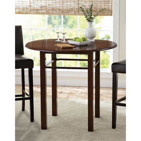 better homes and gardens pub table cherry walmart