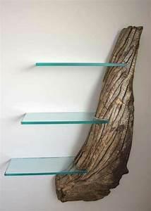 Regal Selber Bauen Wandregal Aus Holzstck Und Glas Diy