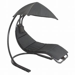 Fauteuil Suspendu Jardin : fauteuil suspendu brasilia anthracite eminza ~ Dode.kayakingforconservation.com Idées de Décoration