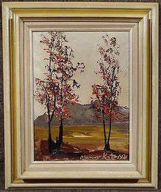 Listed Canadian Artist Henri Beau Painting Oil On Board