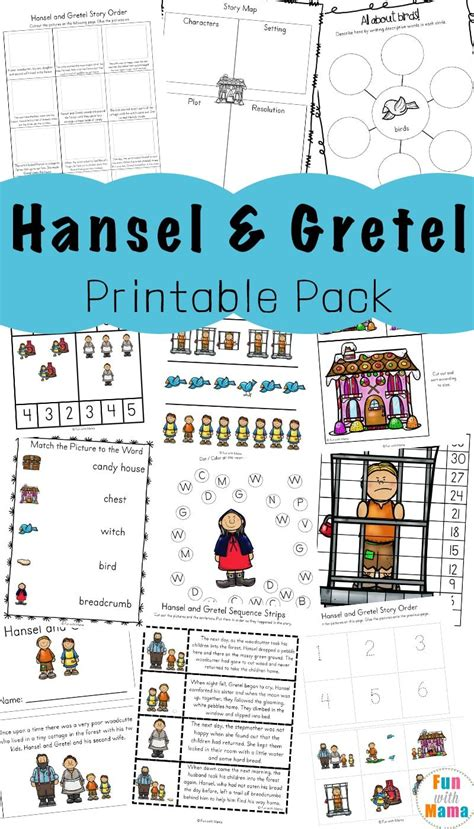 hansel  gretel short story activities preschool