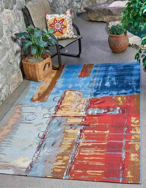 Outdoor Rug 10 X 12 by Multi 10 X 12 Outdoor Modern Rug Area Rugs Esalerugs