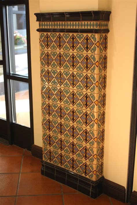 Ceramic Tiled Column, Mexican Home Decor Gallery. Mission