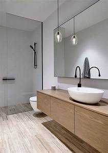 lighting inside the white contemporary bathroom is kept With do 18 wheelers have bathrooms