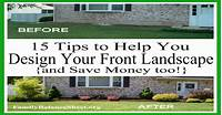 how to landscape your yard 15 Tips to Help You Design Your Front Yard & Save Money too!