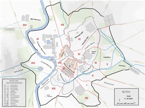 map  ancient rome    city monuments