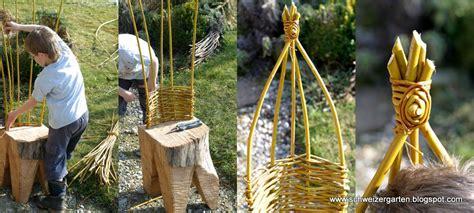 Ideen Aus Holz Für Den Garten by Ein Schweizer Garten Kreatives Aus Weiden