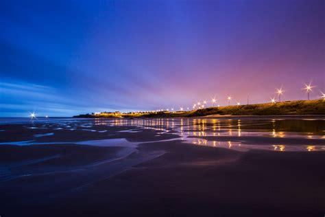 united kingdom england north sea tide beach coast lighting