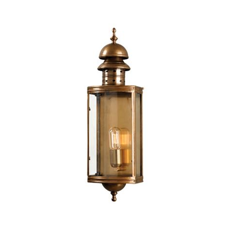 elstead lighting downing street wall lantern brass from