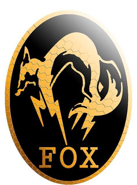 foxhound metal gear logo stickers  david bash redbubble