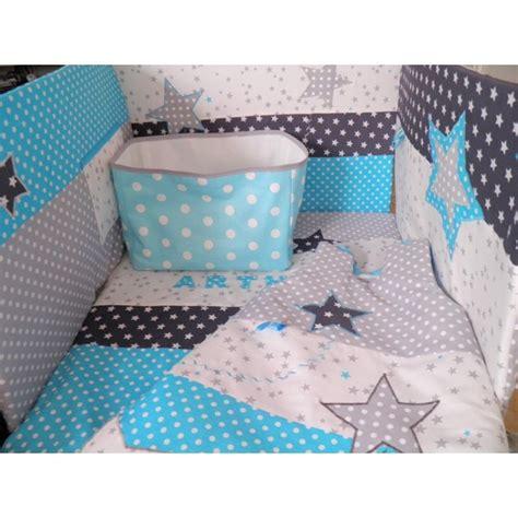 theme chambre bebe garcon tour de lit gigoteuse couverture corbeille réalisés