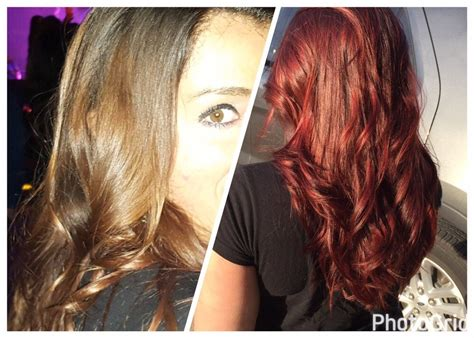 Difiaba A Hair Color. Vibrant Red And Violet Hues