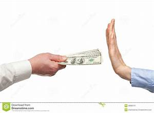 Human Hands Rejecting An Offer Of Money Stock Image ...