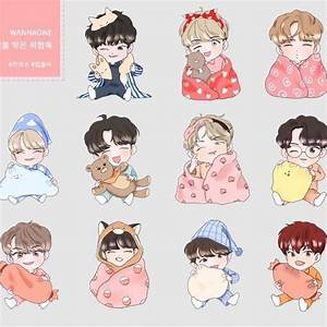 Wanna One Fanart EMW Stickers, K-Wave on Carousell